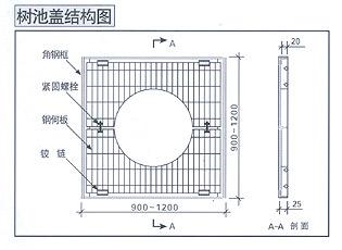 树池结构示意图