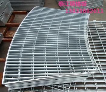 弧形镀锌钢格栅装饰构件施工安装@钢格板厂家小王